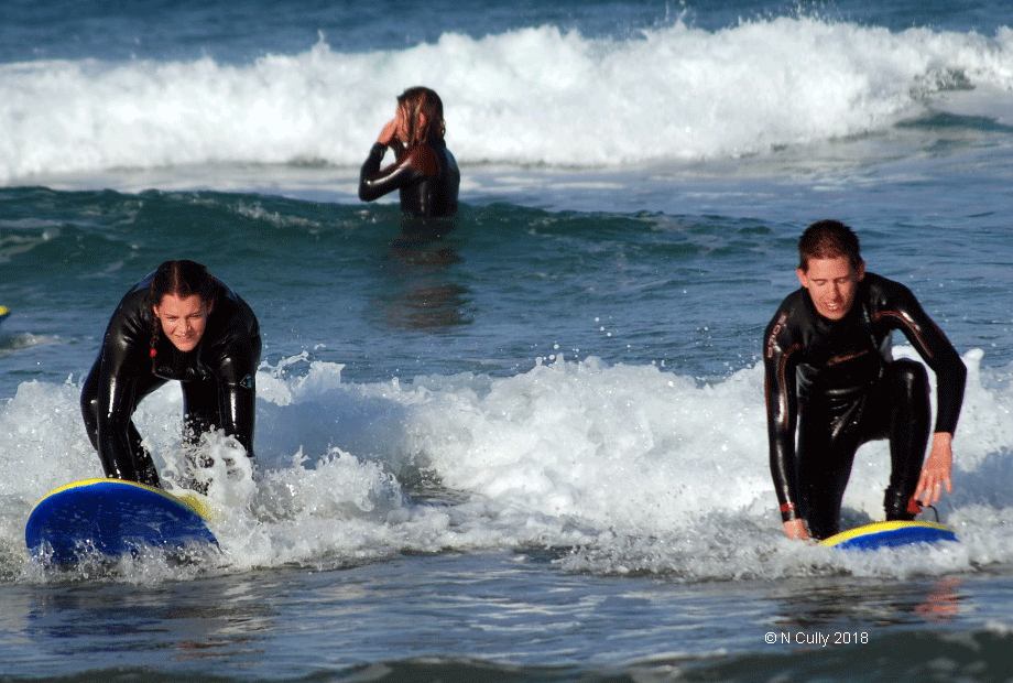 Warrior Troop enjoing surfing during SUmer Camp 2017