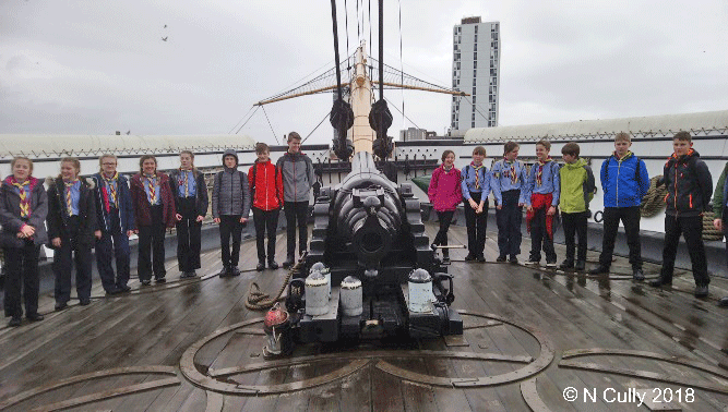 Members of Warrior Troop aboard HMS Warrior in Portsmouth