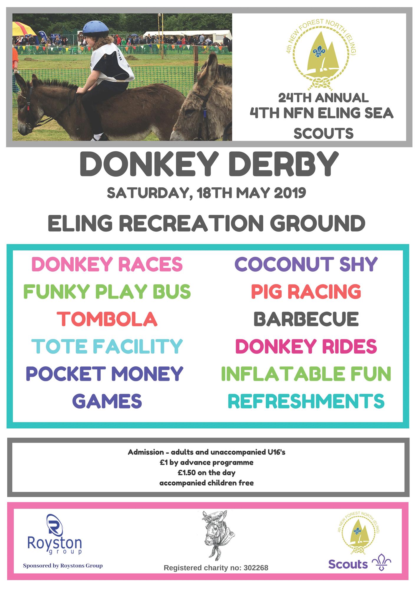 2019 Donkey Derby Poster