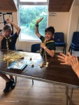 Model making with marshmellows and spaghetti